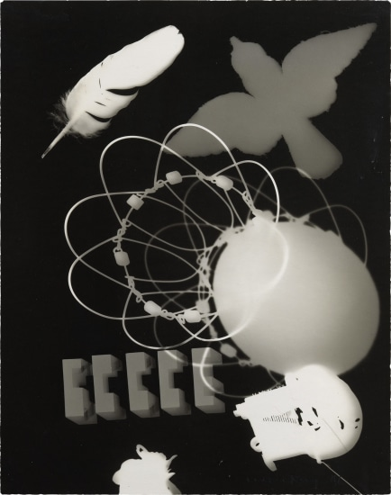 Man Ray, Untitled rayograph, 1946, Courtesy of Phillips, New York, USA.