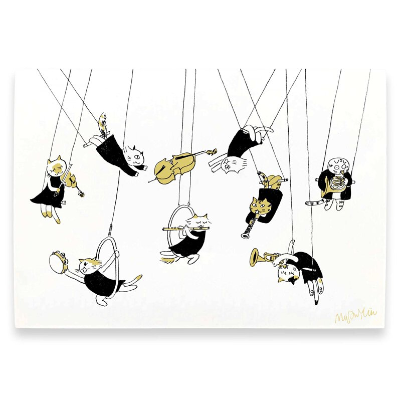 I Believe I Can Fly  Musical Circus Postcards